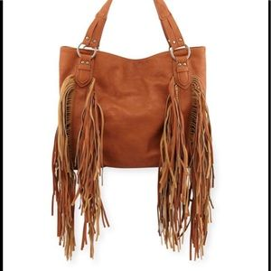 Tote Bag with fringes - vegan leather